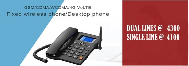 GSM Desktop Phone . Single Line, Dual Lines